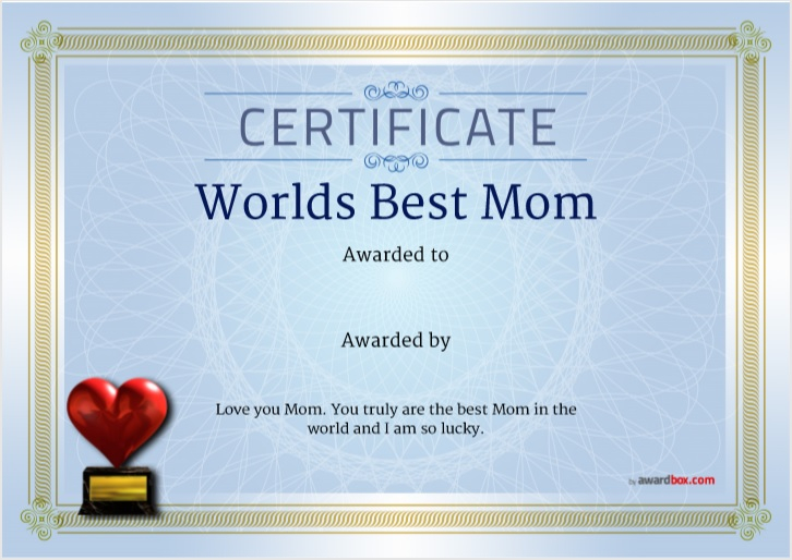 11 Free Certificate of Best Mother Templates - Free Word Templates Pertaining To Love Certificate Templates Intended For Love Certificate Templates