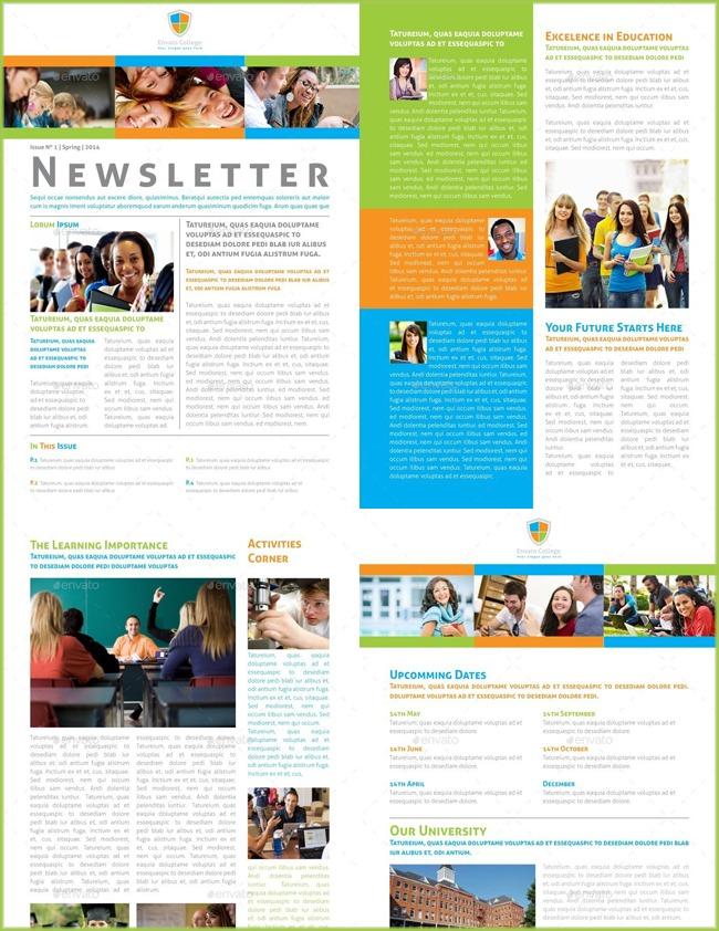 11+ Free Classroom Newsletter Templates (Word  PSD) Throughout Free School Newsletter Templates Intended For Free School Newsletter Templates