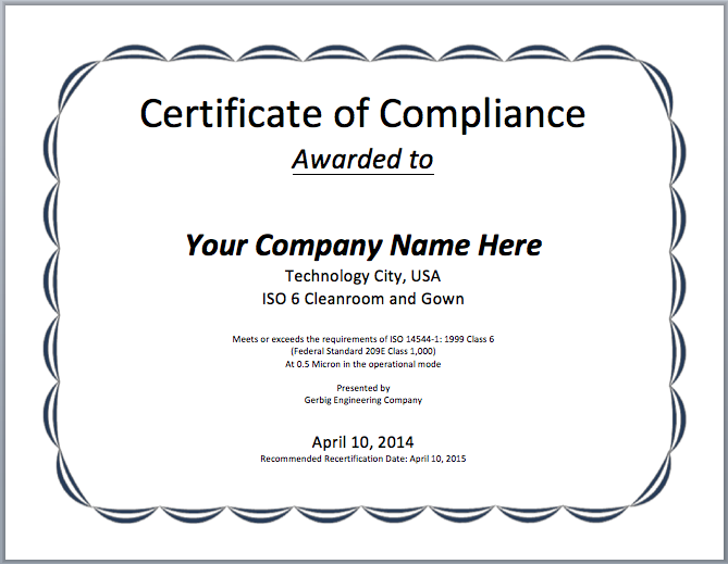11 Free Compliance Certificate Templates - Microsoft Word Templates Throughout Certificate Of Compliance Template In Certificate Of Compliance Template