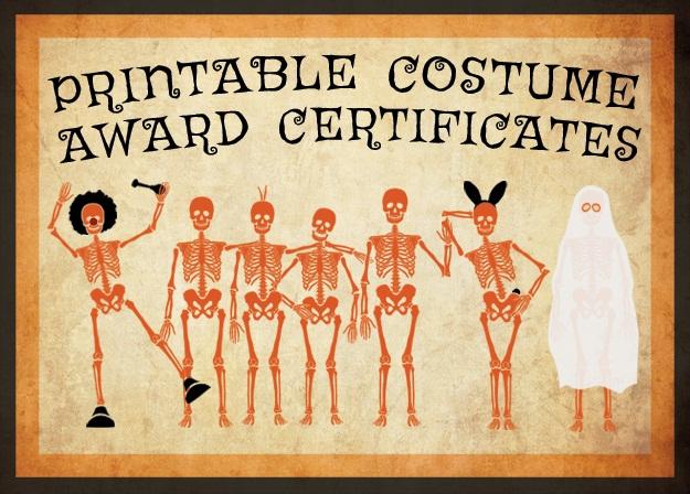 11 Free Costume Award Certificates! [Printables  Regarding Halloween Costume Certificate Template