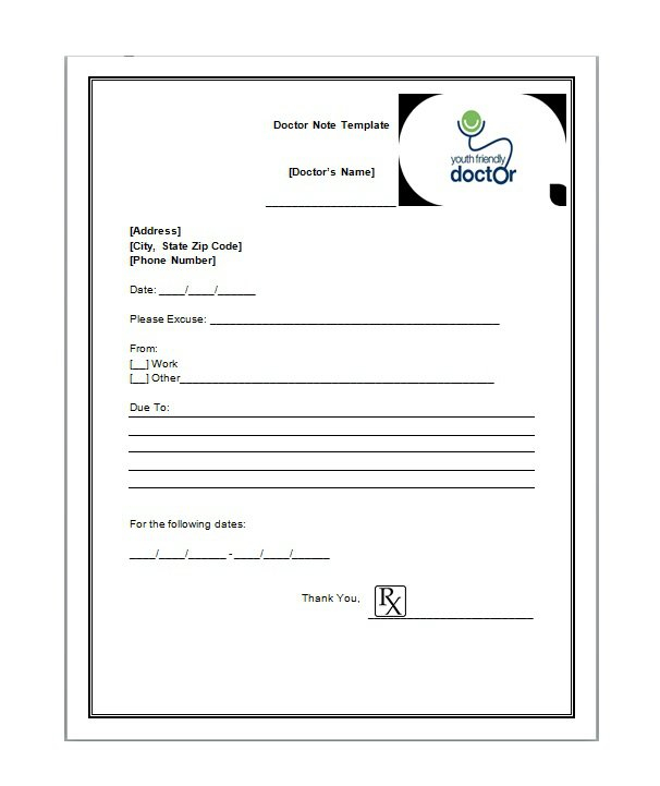 11 Free Doctor Note / Excuse Templates - Free Template Downloads In Free Fake Doctors Note Template Download