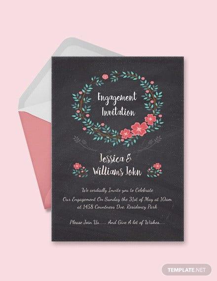 11+ Free Engagement Invitation Templates - PSD, AI, Word  Free  Pertaining To Engagement Invitation Card Template With Regard To Engagement Invitation Card Template