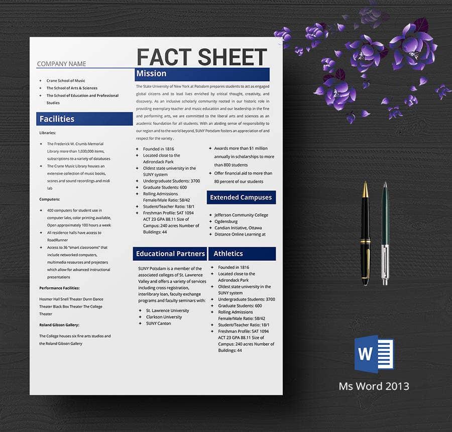 11+ Free Fact Sheet Templates - Survey, Campaign  Free & Premium  Inside Fact Sheet Template Word Pertaining To Fact Sheet Template Word