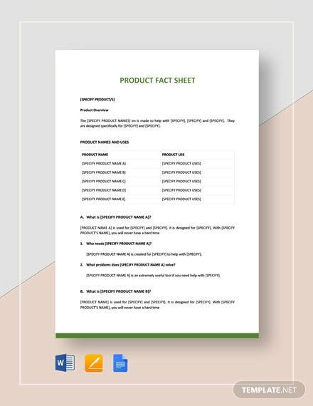 11+ Free Fact Sheet Templates - Survey, Campaign  Free & Premium  Pertaining To Fact Sheet Template Word Pertaining To Fact Sheet Template Word