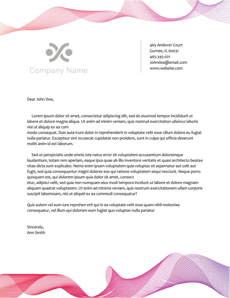 11+ Free Letterhead Templates (for Word) - Elegant Designs Within Headed Letter Template Word Inside Headed Letter Template Word