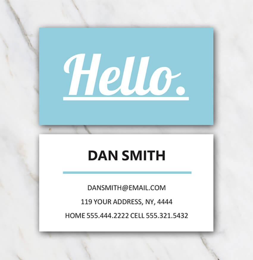 11+ Free Microsoft Word Business Card Templates (Printable Ready 11) Throughout Business Cards Templates Microsoft Word