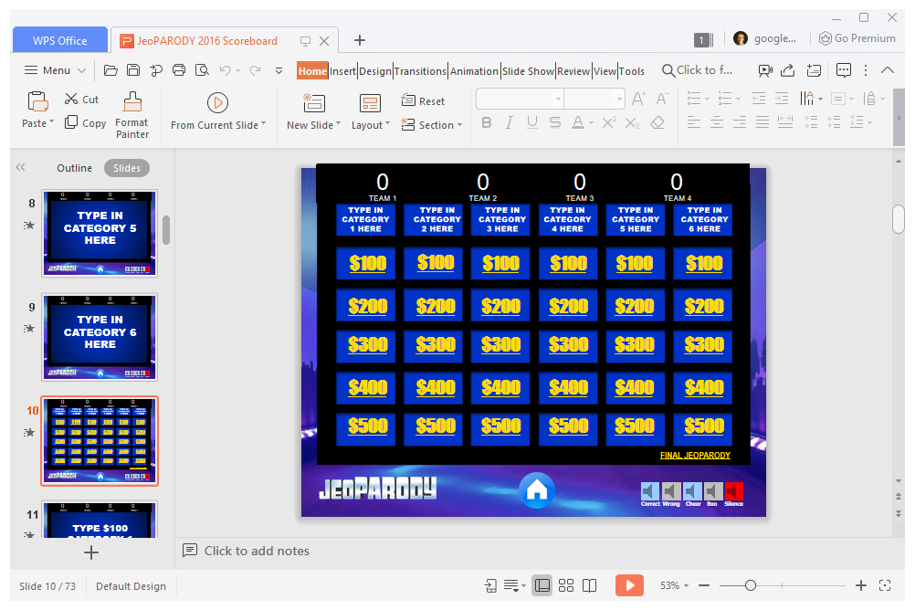 11 Free PowerPoint Game Templates for the Classroom Within Price Is Right Powerpoint Template Regarding Price Is Right Powerpoint Template.Html