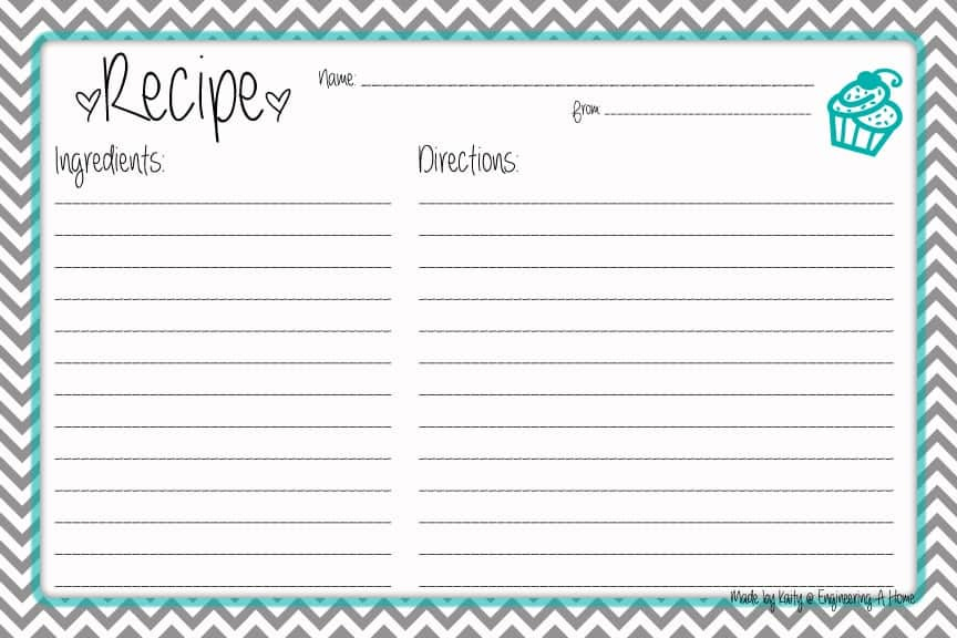 11+ Free Recipe Card Templates (Print to Use) - Word Excel Fomats For Free Recipe Card Templates For Microsoft Word Within Free Recipe Card Templates For Microsoft Word