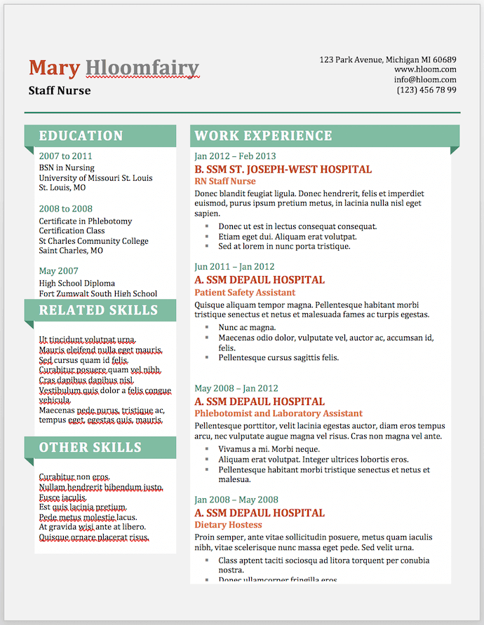 11 Free Resume Templates for Microsoft Word (& How to Make Your Own) Intended For Microsoft Word Resumes Templates Regarding Microsoft Word Resumes Templates