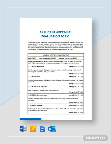 11+ FREE Sample HR Evaluation Forms & Examples - Word, PDF, PSD  Within Blank Evaluation Form Template