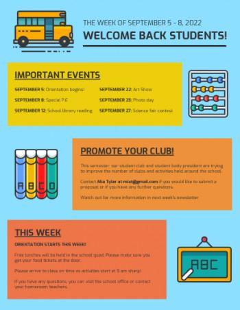 11+ Free School Newsletter Templates  Custom Newsletters Inside Free School Newsletter Templates Inside Free School Newsletter Templates