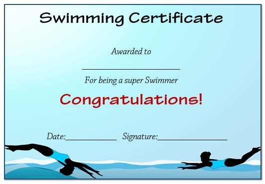 11 Free Swimming Certificate Templates : Printable Word Documents  Regarding Free Swimming Certificate Templates Within Free Swimming Certificate Templates