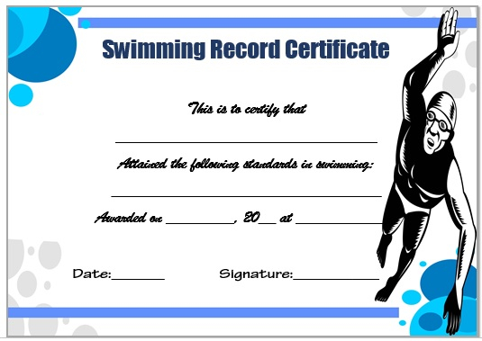 11 Free Swimming Certificate Templates : Printable Word Documents  Throughout Free Swimming Certificate Templates Pertaining To Free Swimming Certificate Templates