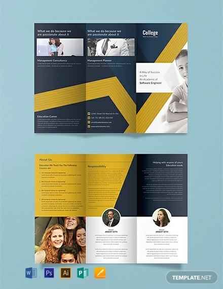11+ FREE Tri-Fold Brochure Templates - PDF  Word (DOC)  PSD  Inside 3 Fold Brochure Template Free Download Intended For 3 Fold Brochure Template Free Download