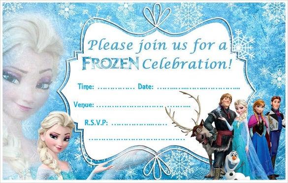 11+ Frozen Birthday Invitation Templates - PSD, AI, Vector EPS  With Frozen Birthday Card Template In Frozen Birthday Card Template