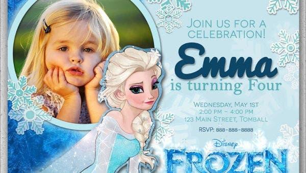 11+ Frozen Invitation Templates - Word, PSD, AI  Free & Premium  Pertaining To Frozen Birthday Card Template Inside Frozen Birthday Card Template