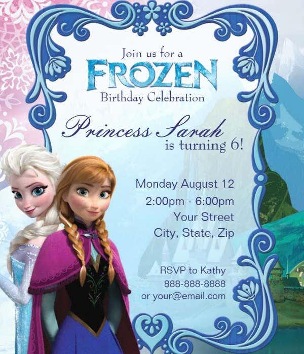 11+ Frozen Invitation Templates - Word, PSD, AI  Free & Premium  Pertaining To Frozen Birthday Card Template In Frozen Birthday Card Template