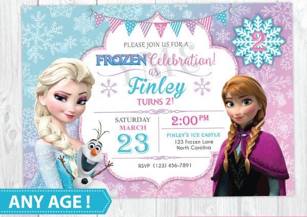 11+ Frozen Invitation Templates - Word, PSD, AI  Free & Premium  With Regard To Frozen Birthday Card Template Throughout Frozen Birthday Card Template