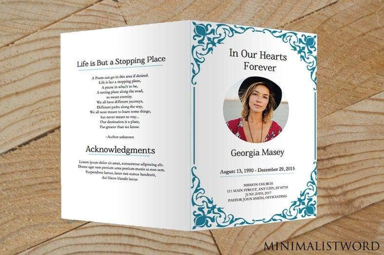 11+ Funeral Memorial Card Designs & Templates - PSD, AI, InDesign  In Remembrance Cards Template Free Throughout Remembrance Cards Template Free