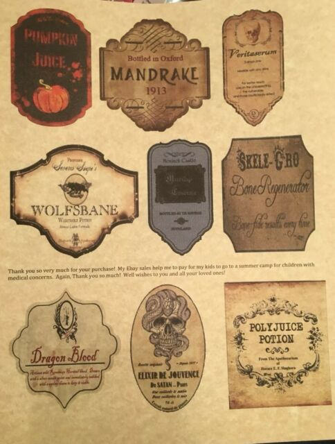 11 Harry Potter Potion Label - Labels For Your Ideas Regarding Harry Potter Potion Labels Templates