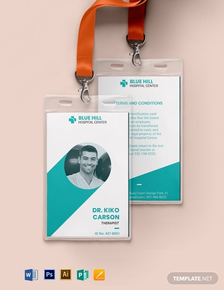 11+ Healthcare ID Card Templates - Illustrator, MS Word, Pages  Pertaining To Hospital Id Card Template Intended For Hospital Id Card Template