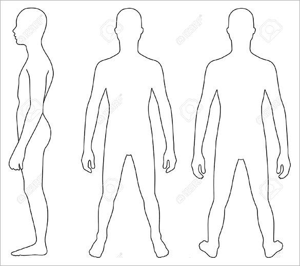 11+ Human Body Outline Templates -DOC, PDF  Free & Premium Templates In Blank Body Map Template Inside Blank Body Map Template
