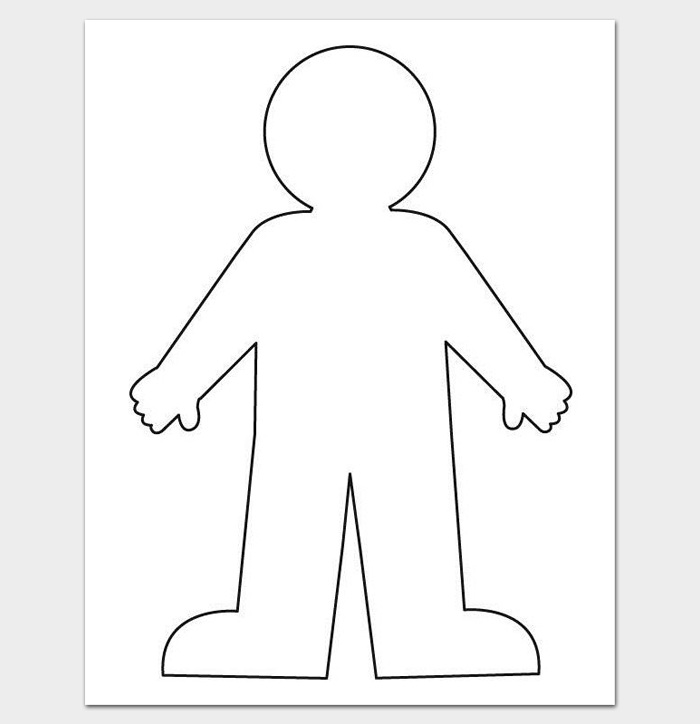 11+ Human Body Outline Templates (in Word & PDF) - Doc Formats Throughout Blank Body Map Template With Blank Body Map Template