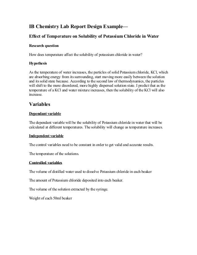 11 ib-chemistry-lab-report-design-example Throughout Lab Report Template Chemistry Throughout Lab Report Template Chemistry