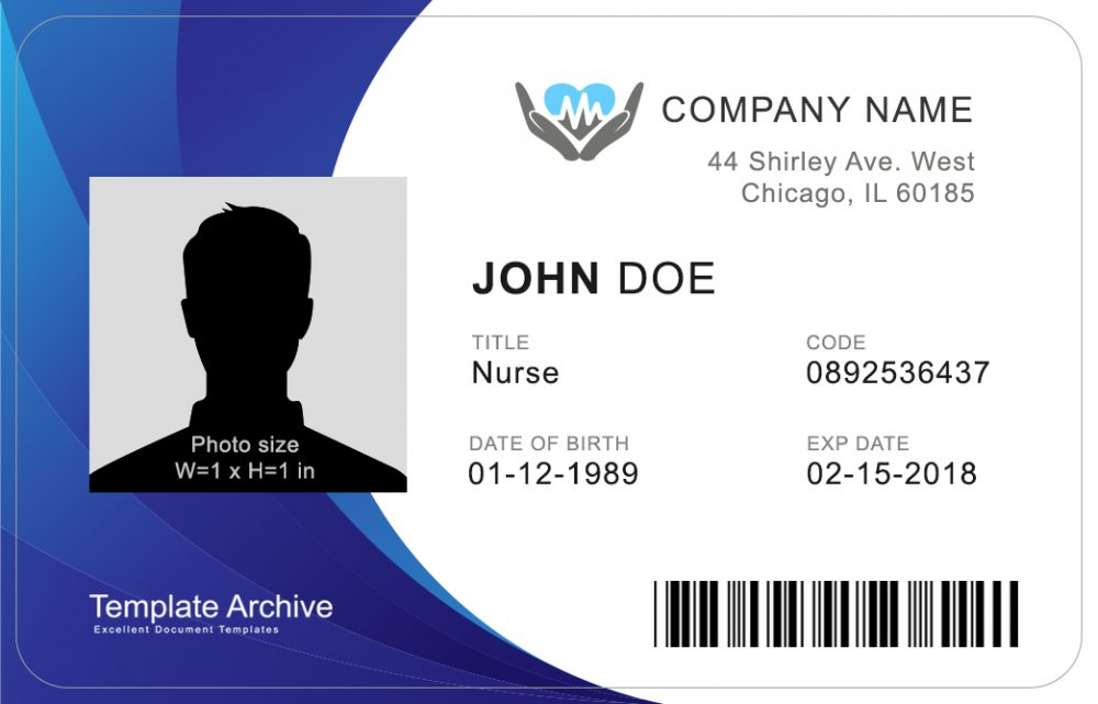 11 ID Badge & ID Card Templates FREE - TemplateArchive Intended For Personal Identification Card Template For Personal Identification Card Template