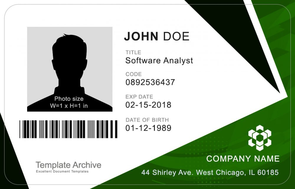 11 ID Badge & ID Card Templates FREE - TemplateArchive Throughout Personal Identification Card Template With Regard To Personal Identification Card Template