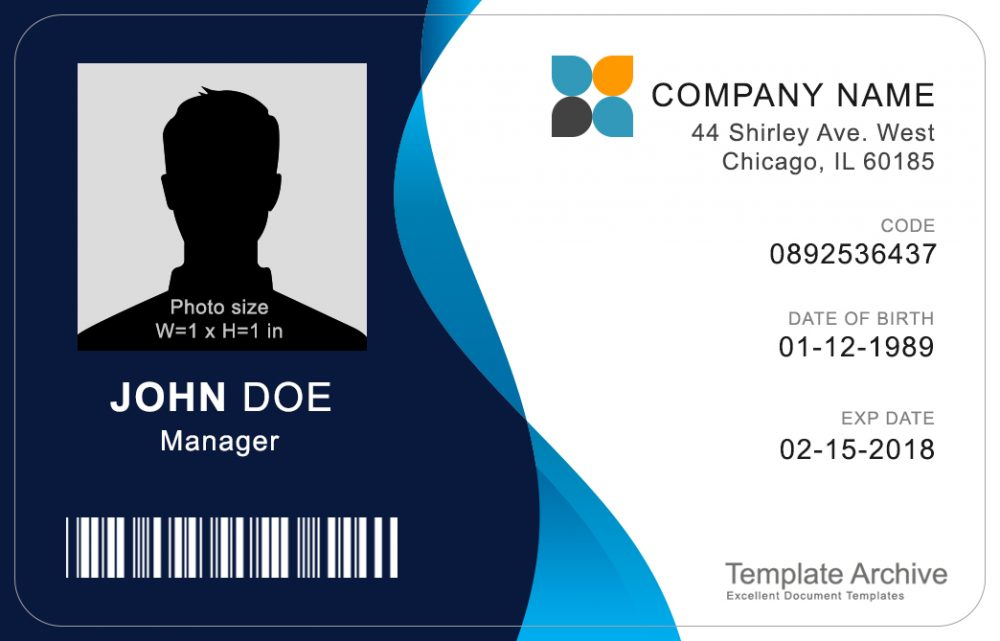 11 ID Badge & ID Card Templates FREE - TemplateArchive Throughout Visitor Badge Template Word With Regard To Visitor Badge Template Word