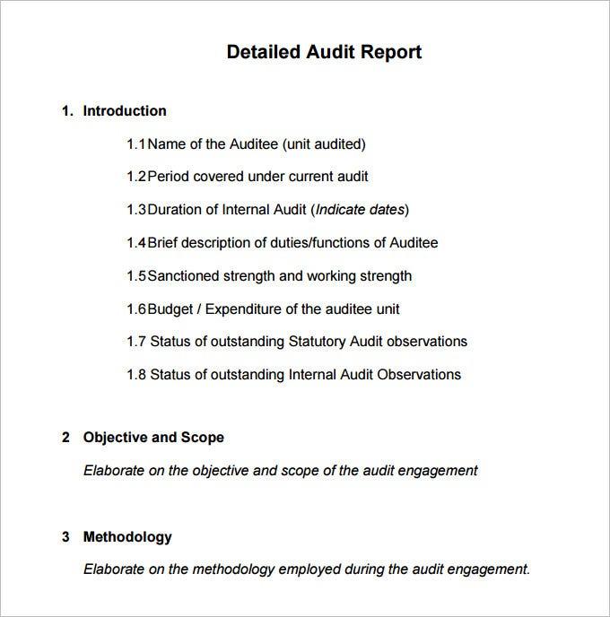 11+ Internal Audit Report Templates - Word, PDF, Apple Pages  Throughout Internal Control Audit Report Template Inside Internal Control Audit Report Template