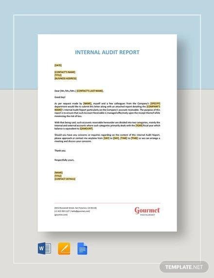 11+ Internal Audit Report Templates - Word, PDF, Apple Pages  With Internal Control Audit Report Template With Regard To Internal Control Audit Report Template
