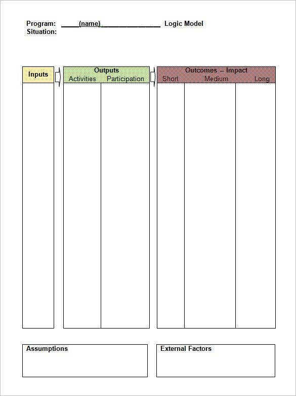 11+ Logic Model Templates - Word, PDF  Free & Premium Templates Inside Logic Model Template Microsoft Word Pertaining To Logic Model Template Microsoft Word