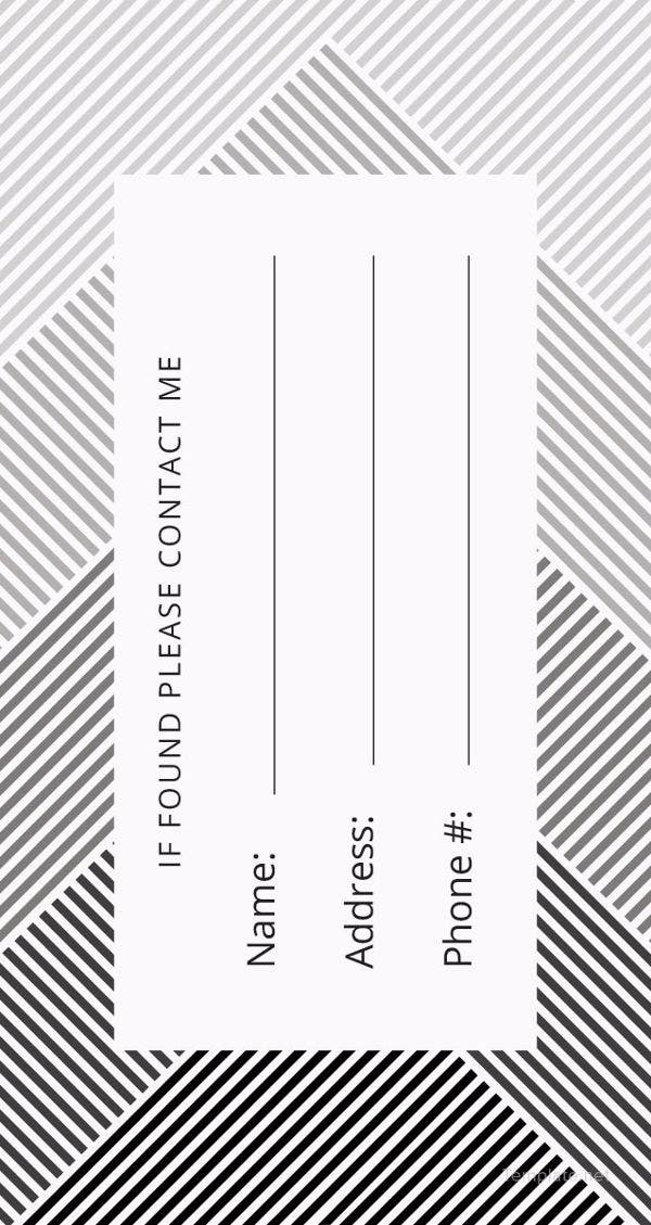 11+ Luggage Tag Templates – Free Sample, Example Format Download  Intended For Luggage Tag Template Word Throughout Luggage Tag Template Word