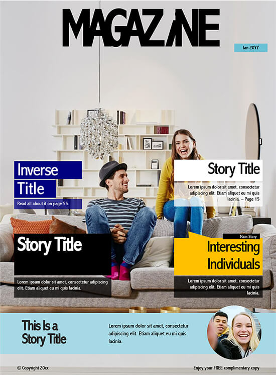 11+ Magazine Templates (Make College & Company Magazine) Word  PDF With Regard To Magazine Template For Microsoft Word Throughout Magazine Template For Microsoft Word