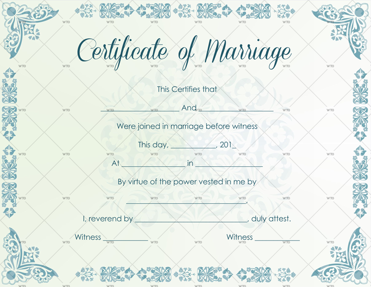 11+ Marriage Certificate Templates (Word  PDF) Editable & Printable Inside Certificate Of Marriage Template Pertaining To Certificate Of Marriage Template