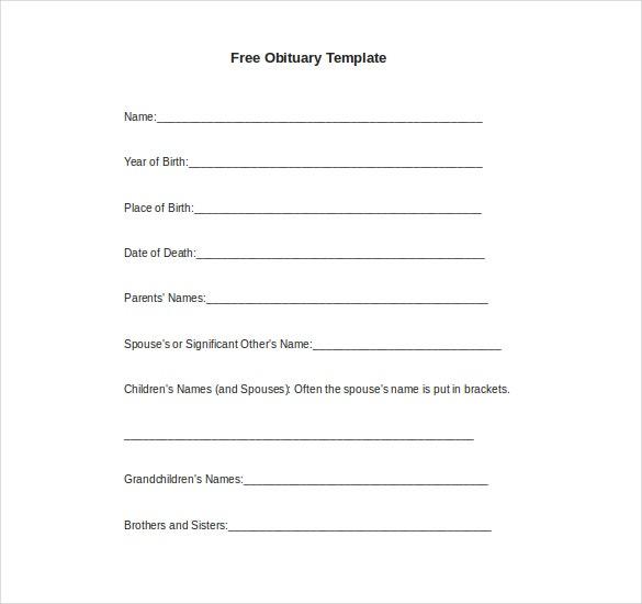 11+ Microsoft Word Obituary Templates Free Download  Free  With Regard To Obituary Template Word Document Throughout Obituary Template Word Document