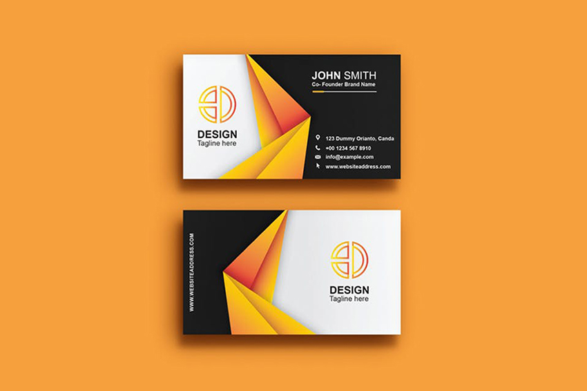 11+ Minimal Business Cards (With Simple Modern Design Ideas) for 11 Intended For Designer Visiting Cards Templates With Regard To Designer Visiting Cards Templates