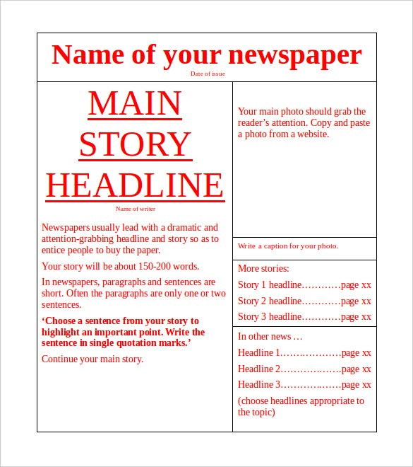 11+ News Paper Templates - Word, PDF, PSD, PPT  Free & Premium  Throughout Blank Newspaper Template For Word Throughout Blank Newspaper Template For Word