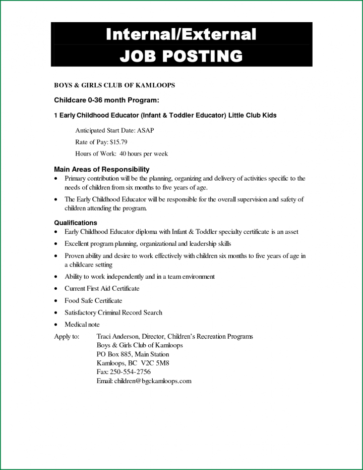 11+ Notice of Job Opening Forms  Free & Premium Templates Intended For Internal Job Posting Template Word Regarding Internal Job Posting Template Word