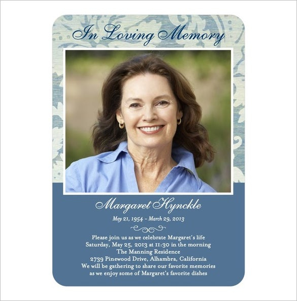 11+ Obituary Card Templates - Free Printable Word, Excel, PDF, PSD  With Regard To Remembrance Cards Template Free Throughout Remembrance Cards Template Free