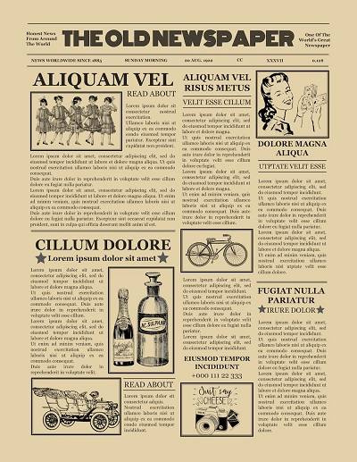 11+ Old (Vintage) Newspaper Templates - Free (Word,PDF) » Template  Intended For Old Newspaper Template Word Free With Regard To Old Newspaper Template Word Free