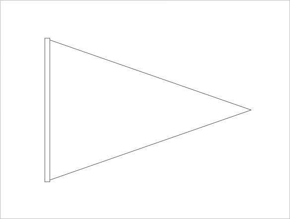 11+ Pennant Banner Templates - PSD, AI, Vector EPS  Free  For Triangle Pennant Banner Template Intended For Triangle Pennant Banner Template