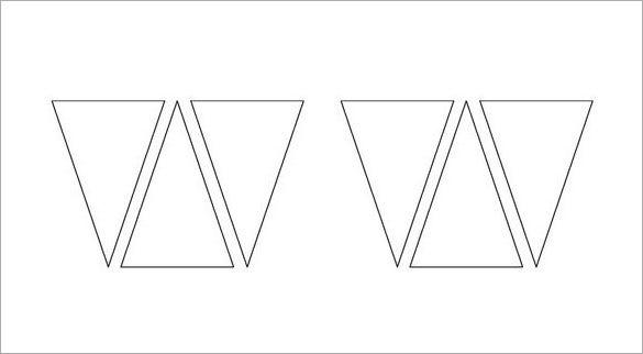 11+ Pennant Banner Templates - PSD, AI, Vector EPS  Free  For Triangle Pennant Banner Template Throughout Triangle Pennant Banner Template