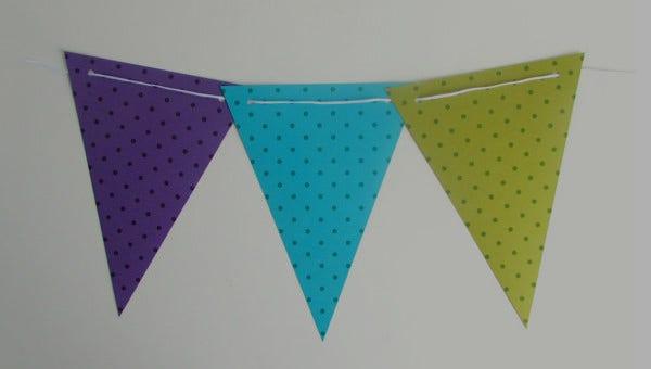 11+ Pennant Banner Templates - PSD, AI, Vector EPS  Free  Pertaining To Triangle Pennant Banner Template Throughout Triangle Pennant Banner Template