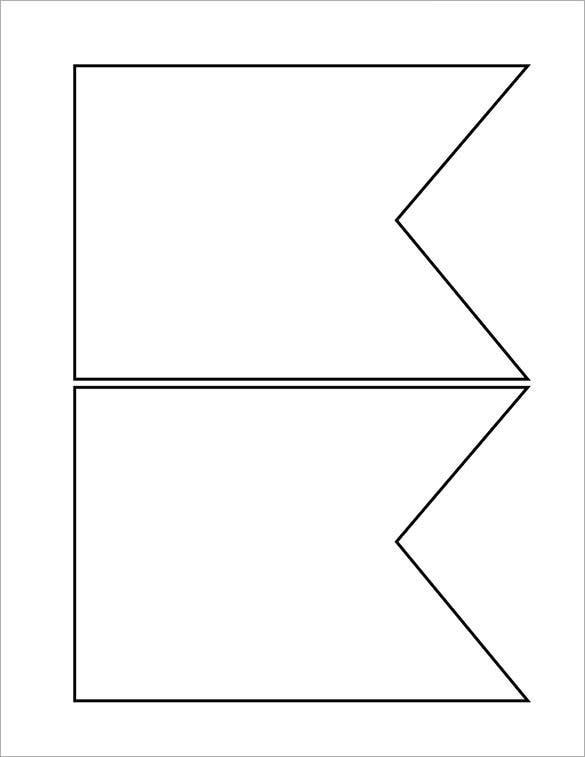 11+ Pennant Banner Templates - PSD, AI, Vector EPS  Free  With Triangle Pennant Banner Template Throughout Triangle Pennant Banner Template