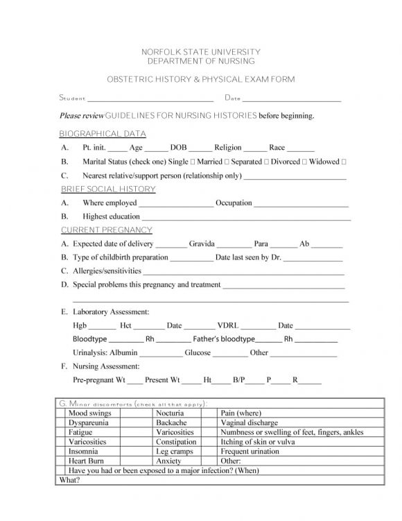 11 Physical Exam Templates & Forms [Male / Female] Inside History And Physical Template Word Intended For History And Physical Template Word