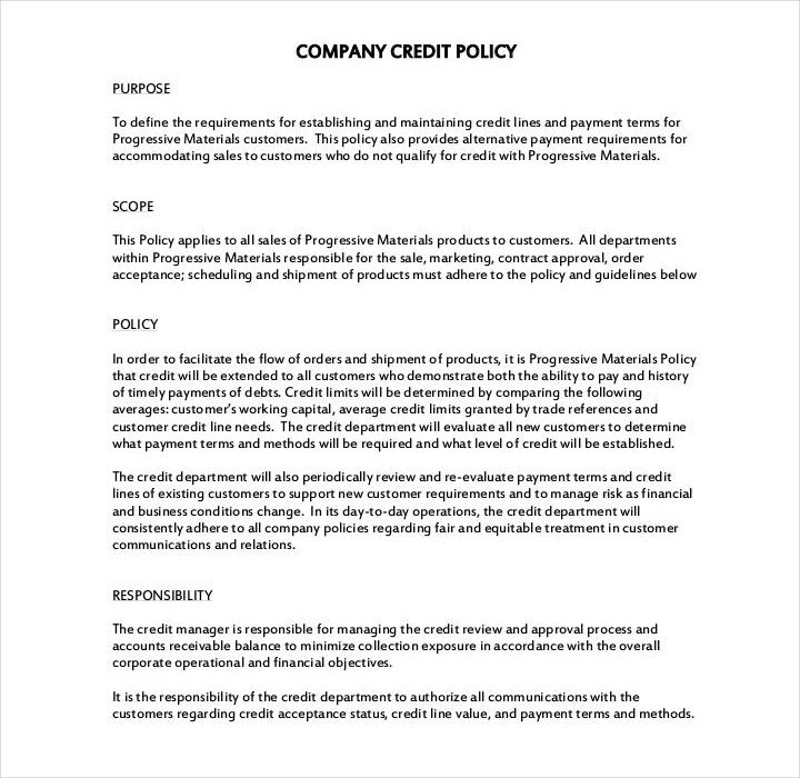 11+ Policy Template Samples - Free PDF, Word Format Download  For Company Credit Card Policy Template Regarding Company Credit Card Policy Template