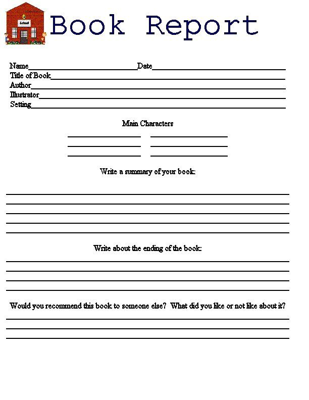 11 Printable book reports Throughout Book Report Template 3rd Grade